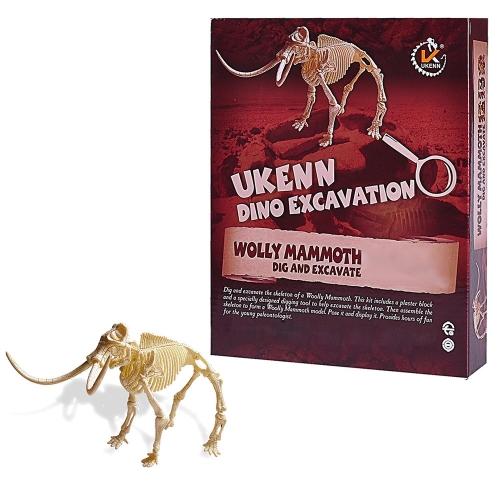 Ultimate Dinosaur Science Kit - wykopuj szkielet i zamontuj mamuta - dużego