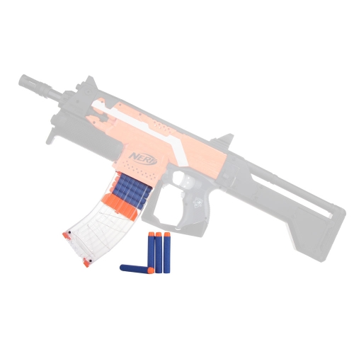 Worker 15 Darts Quick Reload Clip Magazine per Nerf Toy Gun N-Strike Elite - Trasparente