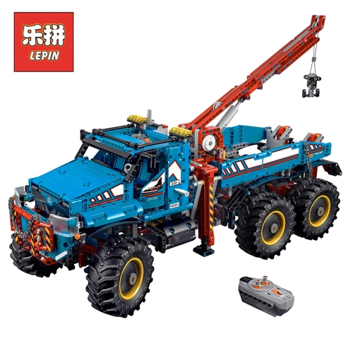 LEPIN 20056 1912pcs Technic Series 6×6 All Terrain Tow Truck Car Model Building Blocks Bricks Kit - Plastic Bag Packaged