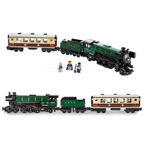 LEPIN 21005 1085 sztuk Seria Technic Creator Emerald Night Train Model Klocki Zestaw klocków - plastikowa torba w opakowaniu