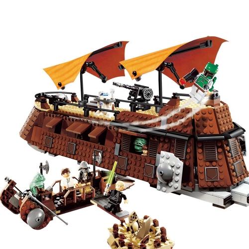LEPIN 05090 821pcs Star Wars Jabba's Sail Barge Building Blocks Kit Set - Sacchetto di plastica confezionato