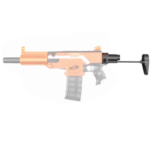 Worker Lightweight Shoulder Stock Injection Mold For Nerf Toy Gun N-strike Elite - Black