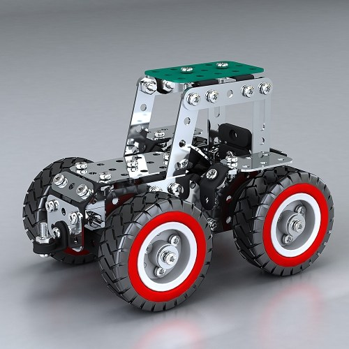 241 sztuk 2 w 1 samochód inteligentny zestaw budowlany 3D model ze stali nierdzewnej zestaw DIY prezent modelu budynku zabawki edukacyjne