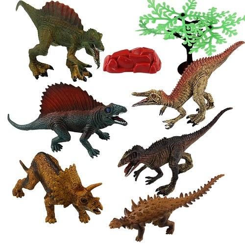 4Pcs/Set Dinosaur Figure Toys Jumbo PVC Dinosaur Playset Educational Realistic Dinosaur Figures for Kids Toddlers
