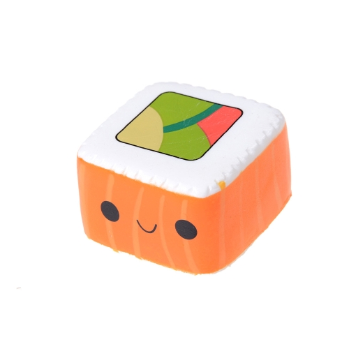 1 Unids Cara Colgante Pastel de Pan Elástico Lindo Yummy Sushi Squishy Slow Rising Cartoon Kids Fun Toy Gift Style 1