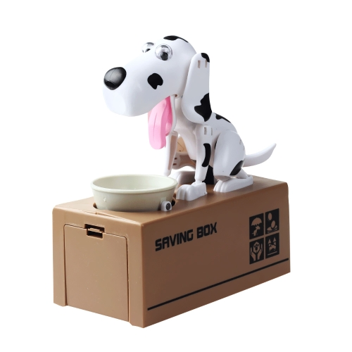 1 Piece Cute Greedy Robotic Dog Model Bank Automatic Money Save Pot Coin Collection Box Moneybox Gifts for Kid Style 1