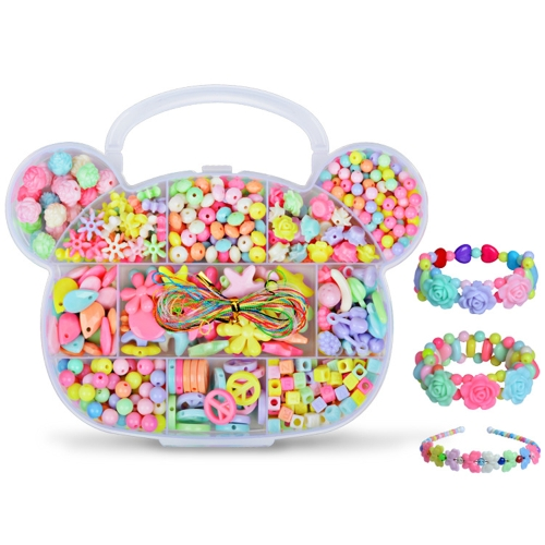 girl children package fun toys for handmade beaded diy wear beads bracelet necklace amblyopia training about 350 pcs style 1