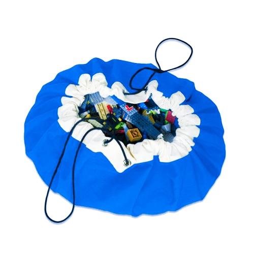ポータブルクイックとシンプルな子供のおもちゃのストレージバッグ遊ぶマットおもちゃ実用的な主催者バッグ直径50センチメートル赤いスタイル1
