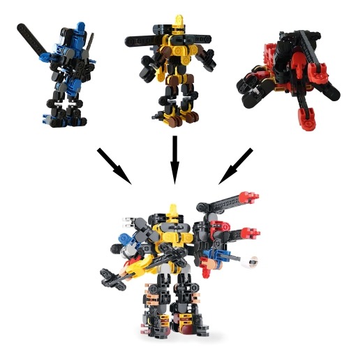 Mechs Building Block Robots Model Bricks Children Educational Assemble Toys Compatible with Other Major Brands Style 1