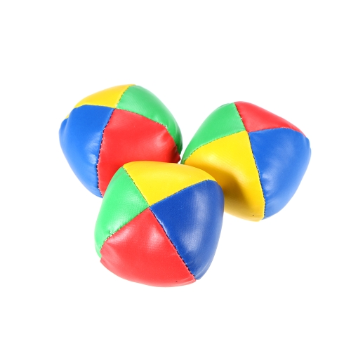 3Pcs Mini Juggling Ball Set Classic Bean Bag Pillow Ball Kids Soft Sollievo regalo giocattolo