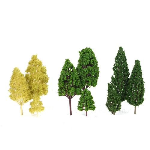 Opakowanie 27szt. Układy drzewkowe Sceneria Układ Kolejowy Diorama Krajobraz 3-16cm 3 rodzaje