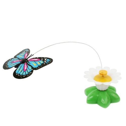 Image of Elektrische Welpen Kätzchen Spielzeug Lustige Vogel Bunte Fliegen Schmetterling Um Blumen Spielzeug Intelligenz Training Scratch Pet Spielzeug für Hund Katze