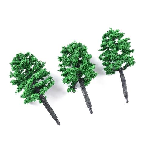 10 Pz Modello Albero Plastica Paesaggio in miniatura Paesaggio Ferrovie Mini Layout Alberi di foresta pluviale Scala Stile 1