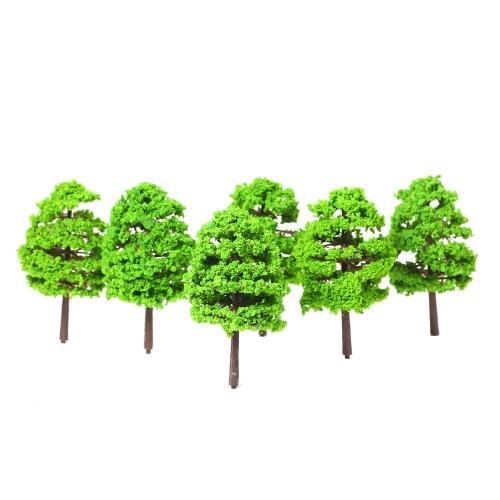 20 sztuk Model Drzew Architektoniczny Układ Kolejowy Ogród Krajobraz Dekoracje Miniatury Dostarczamy Zestawy budowlane Zabawki Styl 1