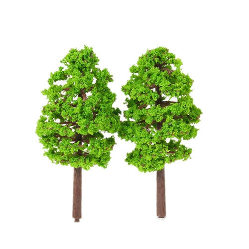 20 pezzi 70 millimetri scala modello architettonico alberi ferrovia layout giardino paesaggio scenario miniature albero costruzione kit giocattolo per bambini stile 1