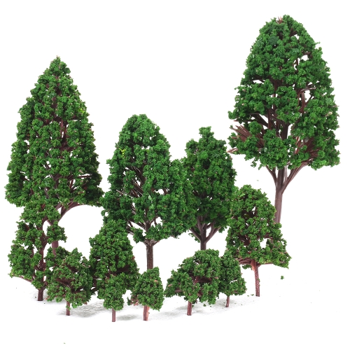 12PCS Plastic Model Trees Architectural Models for Railroad Layout Garden Landscape Scenery Style 1