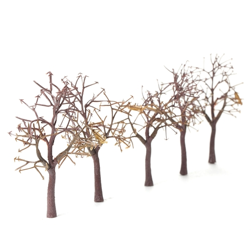 10Pcs/Set 11cm Plastic Model Trees for Railroad Layout Garden Landscape Scenery Doll Tree Miniatures Style 1