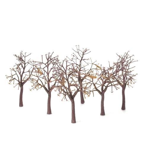10 sztuk / zestaw 11 cm plastikowych modeli drzew dla układu kolejowego ogród krajobraz dekoracje drzewo lalek miniaturowe styl 1