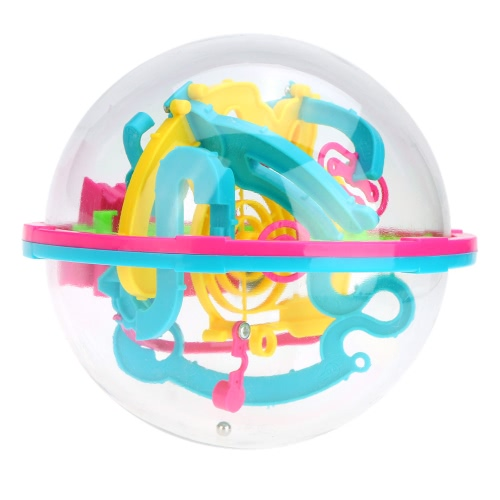 3D Spherical Maze Intellect Ball Balance Game Magical Puzzle with 100 Barriers Educational Toy