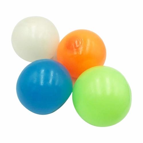 4 pièces bâton boules murales balle cible collante boule de plafond fluorescente jouet de décompression anti-stress