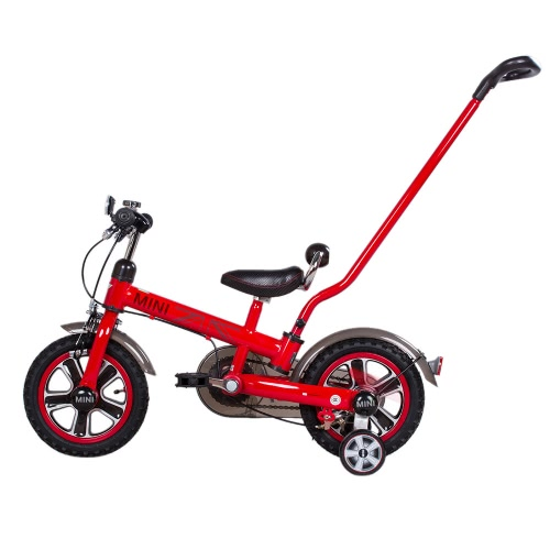 Rastar 12 Inch Kids Pedal Bike BWM Mini Cooper Stroller Children's Bicycle with Detachable Handlebar and Removable Stabilisers