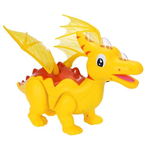 かわいい漫画のサウンド&LED&プロジェクターで恐竜エレクトリック恐竜ライトアップ玩具図ウォーキング