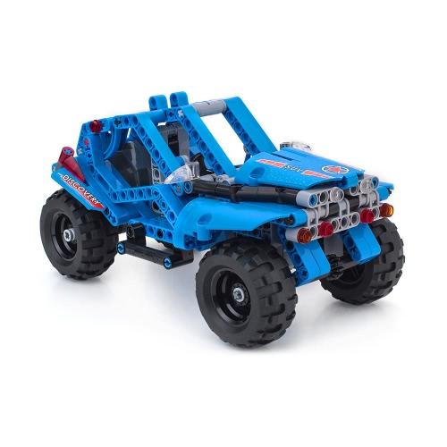 BIOZEA子供の技術ビルディングブロックおもちゃ教育技術レンガパーツデザイナーおもちゃの啓発DIYは車両モデル子供のギフトを集める