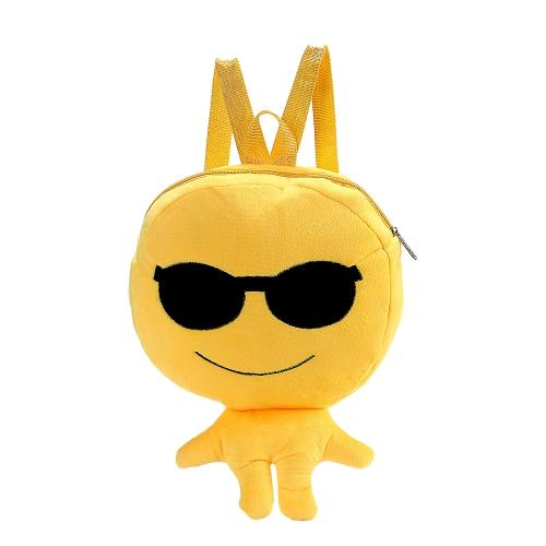 Charming Nette Kinder Emoji Emoticon Umhängetasche Lustige Rucksack Schule Kind Tasche Plüschtier Satchel Rucksack Schultasche Mädchen Jungen Geschenke 6 #
