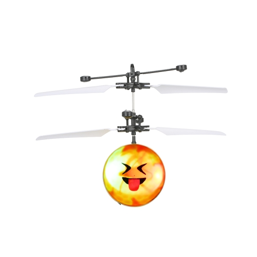 Flying Emoji Electric Ball Colorful LED Lighting Lampeggiante Elicottero a induzione infrarossa Toy Drone Stage Lamp Children Toys Style 1