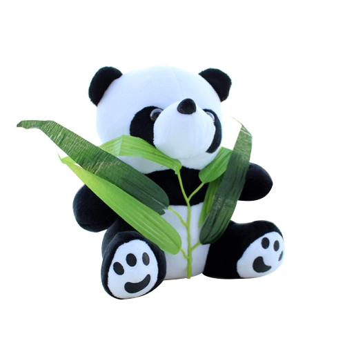 Cute Cartoon Stuffed Panda with Bamboo Soft Plush Toy Stuffed Animal Toy Doll Gift for Kids Style 1