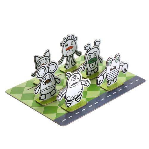 ミニモンスタータウン拡張現実ARカード絵おもちゃ子供学習玩具教育ゲームキット子供のための英語クリエイティブな描画ボードを学ぶ