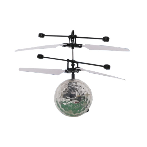 Fantastic New Fashion Infrared Induction Drone Flying Flash Disco Colorful Shining LED Lighting Ball Helicopter Child Kid Toy Gesture-Sensing No Need to Use Remote Control USB Charging