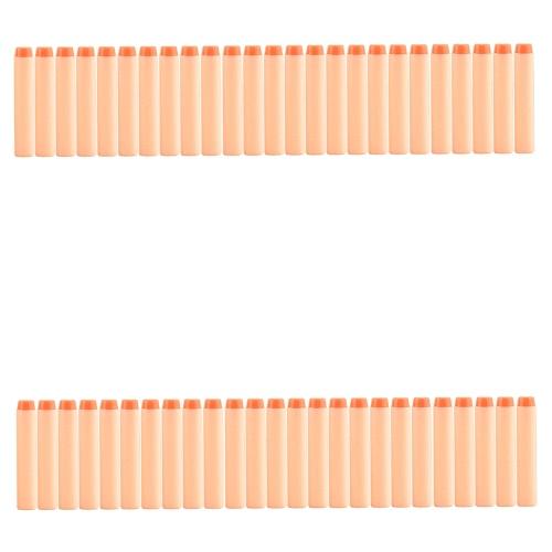 White Refill Hollow Plastic Head Darts 50 / 100Pcs EVA Bullet für Nerf N-Strike Elite Blasters Spielzeug Pistole Clip Schaum Kugeln