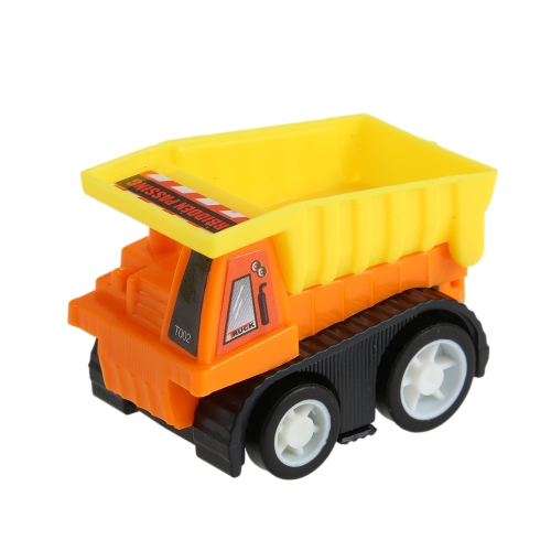 Pull Back Vehicle Assorted Construction Vehicles and Racer Cars