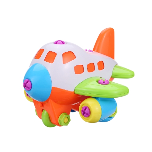 Colorful Disassembly Assembly Plane Helicoptor Toy with Screwdriver Novelty Building Block Puzzle Gift for Kids Children's Educational Toys Style 1