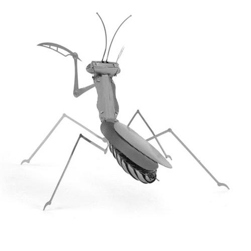 Mantisを祈る3Dパズル -  3Dメタルモデルキット -  DIYモデル動物教育玩具