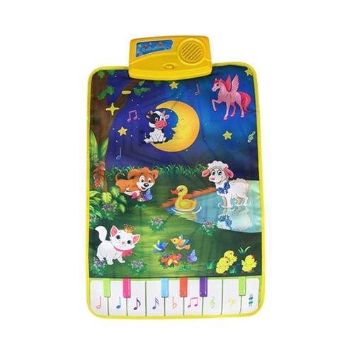 音楽プレイマットを学ぶ歌うカーペットのキーボードピアノ毛布タッチ再生音ベイビーアーリー教育子供ギフト
