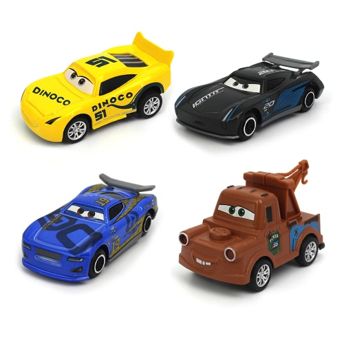 4 in 1 Disney Pixar Autos Blitz McQueen Die Cast Metall Cartoon Auto Spielzeug