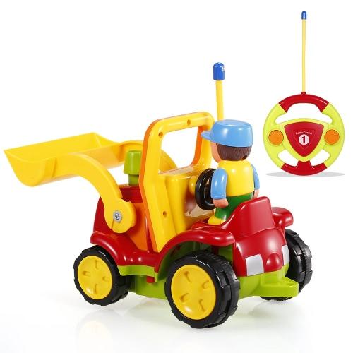 JakMean 2CHラジオコントロール音楽と幼児のための漫画の車の警察の車のおもちゃ