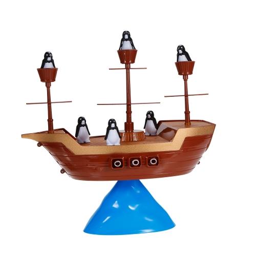 Penguin Pirate Boat Statku Board Balance Gry Zabawki edukacyjne