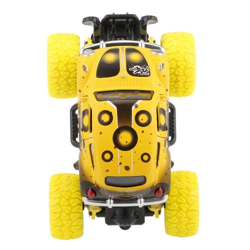 クラシックプルバックカー1/36アロイ4WDビッグホイールショック耐性オフロードクライミングカー2ドアオープンプルバックビークルおもちゃトラック