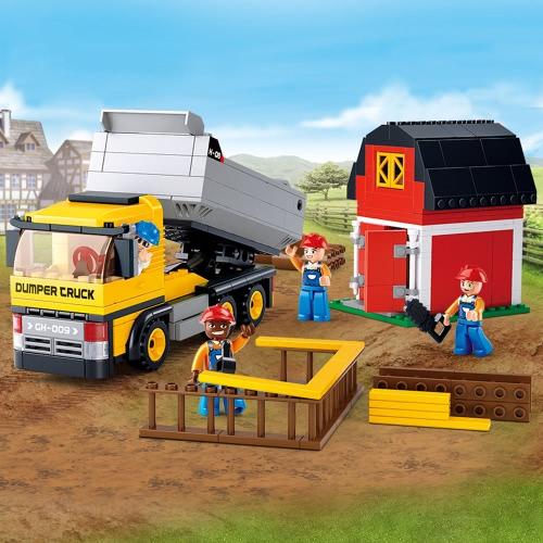 Sluban M38  -  B0552 384pcs子供のためのダンプトラックビルディングブロック建設シリーズのおもちゃ