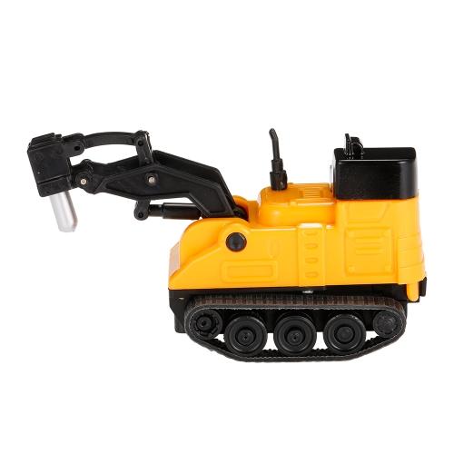 GOLD LIGHT Magic Mini Bau LKW Bagger folgen schwarz gezogen Linie Spielzeugauto