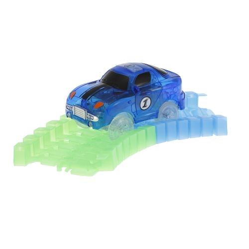 Glitter Track Rennwagen für 55mm Twister Tracks Neon Glow in Darkless für Kinder