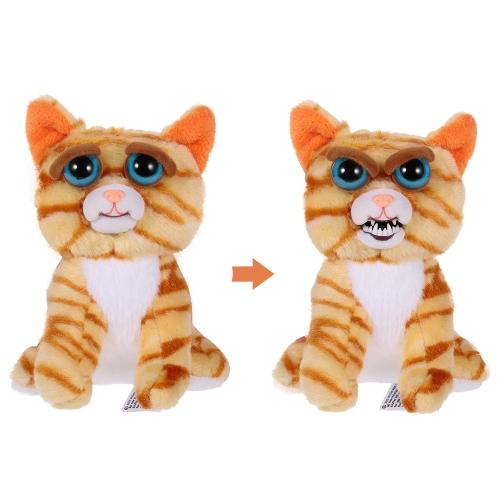 Feisty Pets Mini Katze Prinzessin Pottymouth Schlüsselanhänger Entzückende Plüsch Stofftier macht Feisty mit einem Squeeze