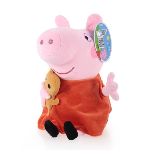 オリジナルブランドPeppa Pig 30cm Peppaぬいぐるみぬいぐるみ家族パーティードール子供のためのクリスマス新年の贈り物