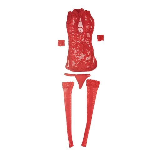1/6レースCheongsamドレス服のストッキング12inch女性のアクションフィギュアのおもちゃのためのセクシーな下着