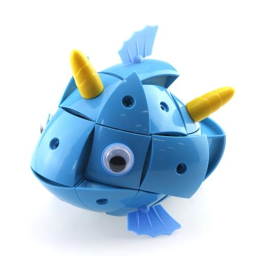 71ピースフィッシュ磁気ビルディングブロック魔法の変換知恵ボール変形可能なジグソーパズルギフトおもちゃ