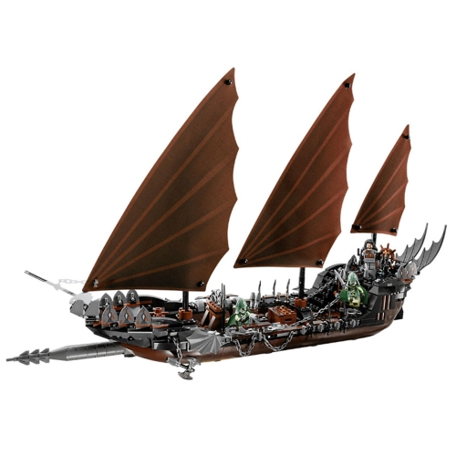 Scatola originale LEPIN 16018 756pcs Serie Movie Il Signore degli Anelli Pirate Ship Ambush Model Building Blocks Kit di mattoni Set