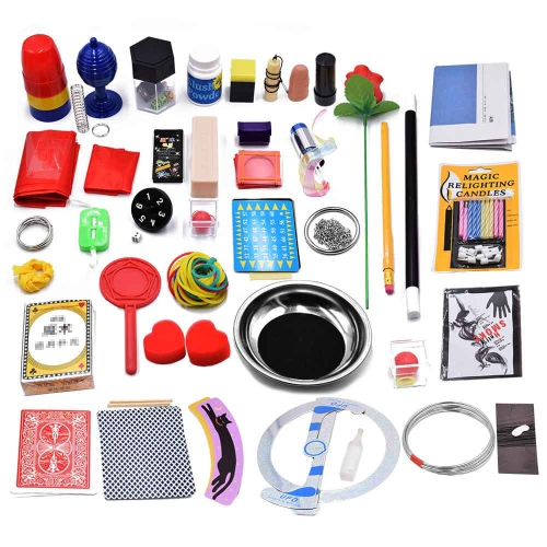 40Pcs Magic Trick Set Magic Prop Kit per Magic Learner e Lover Children Regalo di Natale